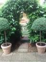 ingresso con piante